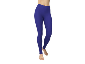 JAMBY Royal Blue Solid Yoga Leggings