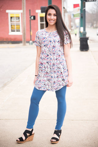 White Floral Baby Doll Tunic