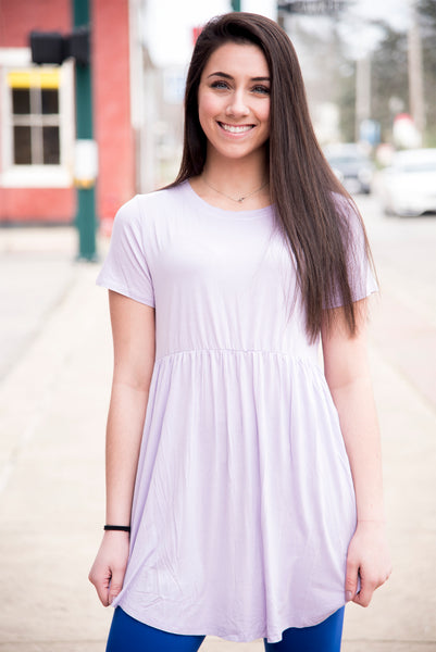 Lilac Baby Doll Tunic