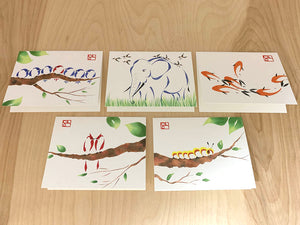 Greeting Card Set 1 - Set of 5 different cards