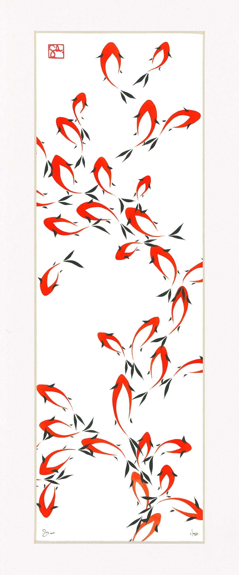 8-1/4x22 Limited Edition Print - Koi Series