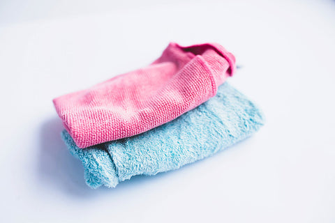 wipe with a soft dry cloth