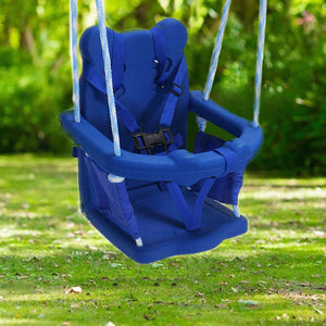 HLC Outdoor Swing-Boys Girls-Portable Kids Swing with Safe Baby Seat