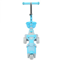 Load image into Gallery viewer, Three wheel Scooters for Kids 2 years and up-Kick Scooter PINK BLUE GREEN 2 in 1 with Removable Seat , Adjustable Height Handle and 2 No Battery Flashing Wheels
