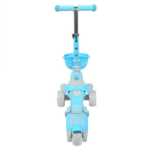 Three wheel Scooters for Kids 2 years and up-Kick Scooter PINK BLUE GREEN 2 in 1 with Removable Seat , Adjustable Height Handle and 2 No Battery Flashing Wheels