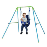 Load image into Gallery viewer, HLC Folding Toddler Swing Baby Swing & Infant Portable Garden Swing Steel Frame - sportstoys