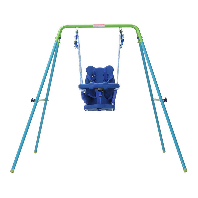 HLC Folding Toddler Swing Baby Swing & Infant Portable Garden Swing Steel Frame - sportstoys