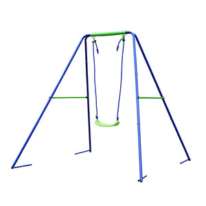 HLC Outdoor Swingset-Boys Girls-2 in 1 Toddler Swing Seat with A-Frame Metal