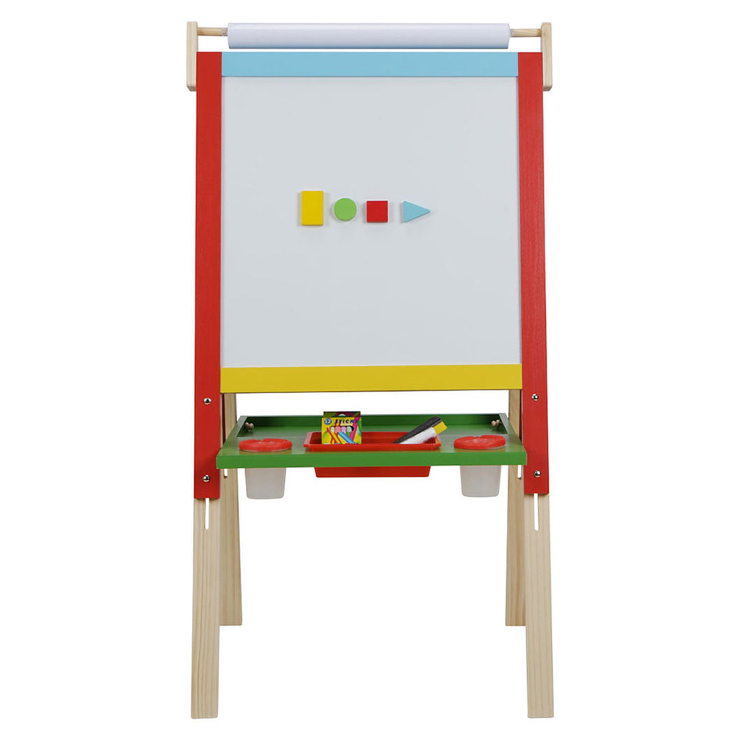 Wooden Art Easel 3 in 1 Double Sided Board with Storage for kids