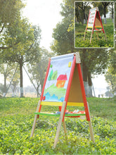 Load image into Gallery viewer, Wooden Art Easel 3 in 1 Double Sided Board with Storage for kids
