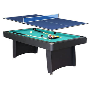 HLC Game Table-2 in 1 Tabletop Game Combo-Table Pool and Table Tennis Game-Gift idea