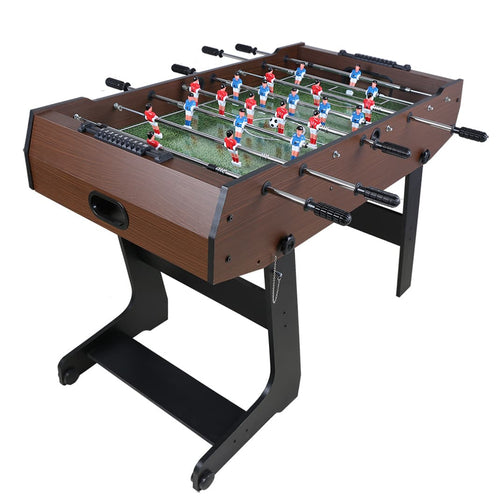 4ft Football Table Freestanding Foosball Table Indoor Soccer Gaming Set