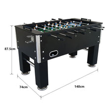 Load image into Gallery viewer, 5Ft Soccer Table in Black Foosball Game