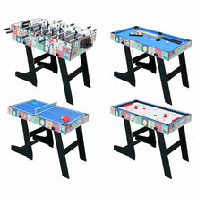 Load image into Gallery viewer, HLC - Contractile game table with 4 different playground boards