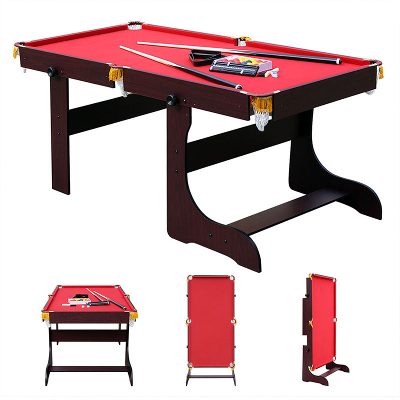HLC - Folding Pool Ball Table in Red