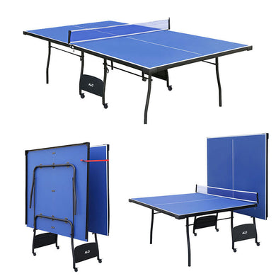 HLC - Folding Table Tennis Table with Wheels Indoor