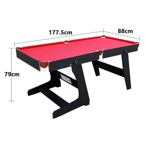 HLC - Folding Snooker Billiards Table Pool Ball Sets