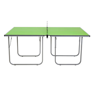 Indoor Table Tennis Ping Pong Table 2-Pieces Compact Folding Leg