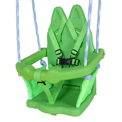 HLC - Green Rabbit Metal Swing for Baby