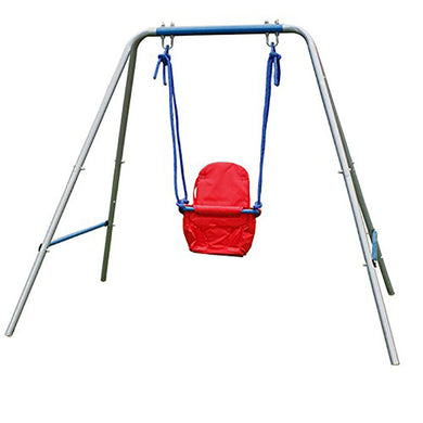 HLC Outdoor Swingset-Boys Girls-Infant Swing with High Back Seat