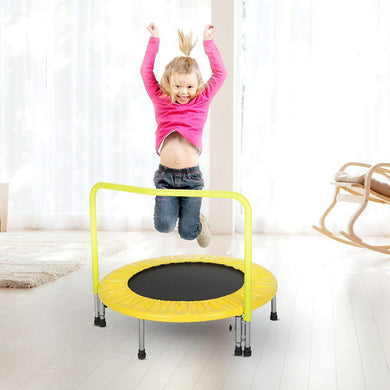 HLC mini trampoline-indoor and outdoor Kids Junior Trampoline with Handle
