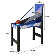 Load image into Gallery viewer, HLC Game Table-5 in 1 Tabletop Game-Multi-function Sports Game Table-Air powered hockey, Billiards, Basketball hoop,Table tennis,Archery sets