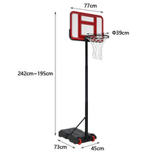 Load image into Gallery viewer, HLC - Portable Basketball System with Wheels