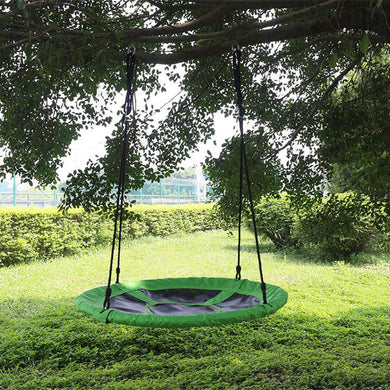 HLC Outdoor Swing-Boys Girls-Round Tree Swing Hanging Seat Set for Multiplayer