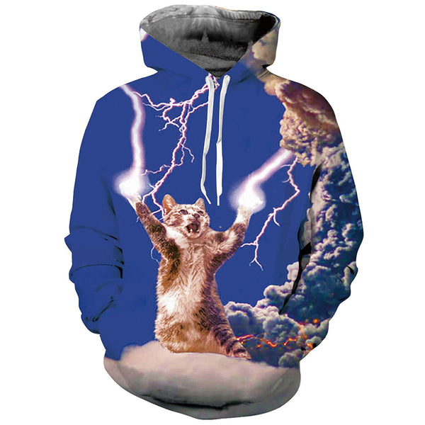 Thunder Cat Hoodie Angry Thunder Cat Sweatshirt For Cat Lovers