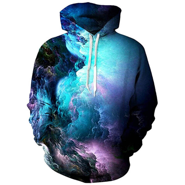 Galaxy Nebular Hoodie Space Nebular Hooded Sweatshirt Colorful