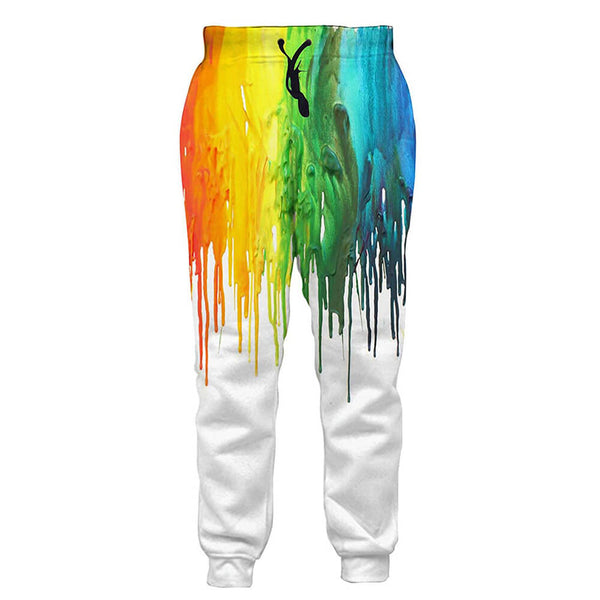 Graphic Yellow Painting Sweatpants