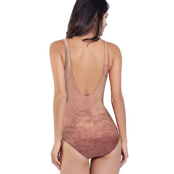 Ugly Funny Chest Hair One Piece Swimsuit