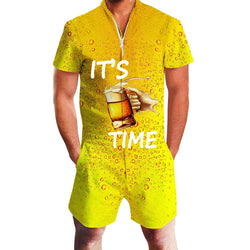 It's Beer Time One Piece Romper