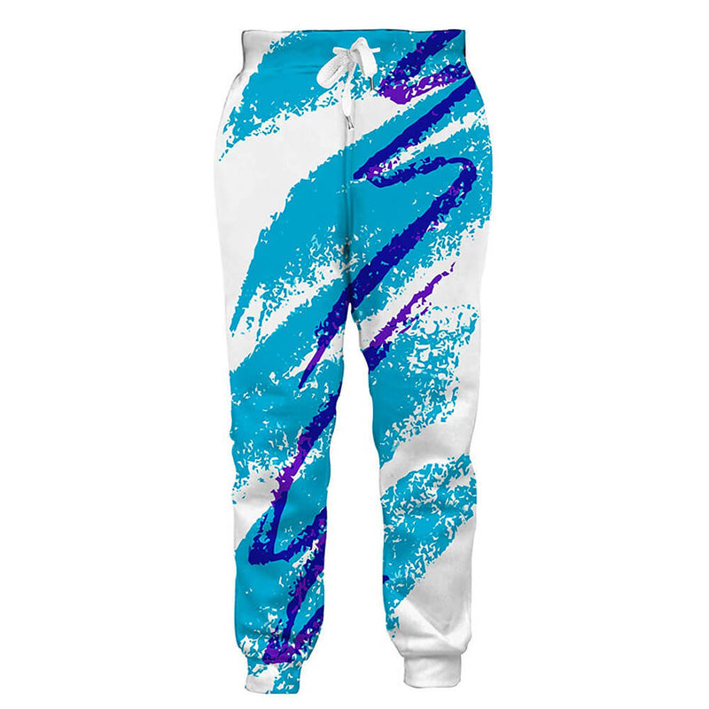 Graphic Sweatpants Funny 90s Paper Cup Joggers Pants Sports Trousers with Drawstring