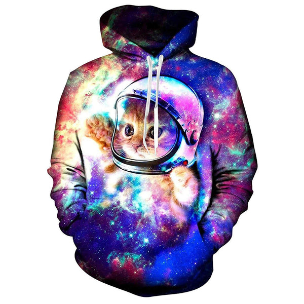 Astronaut Space Cat Graphic Sweatshirt