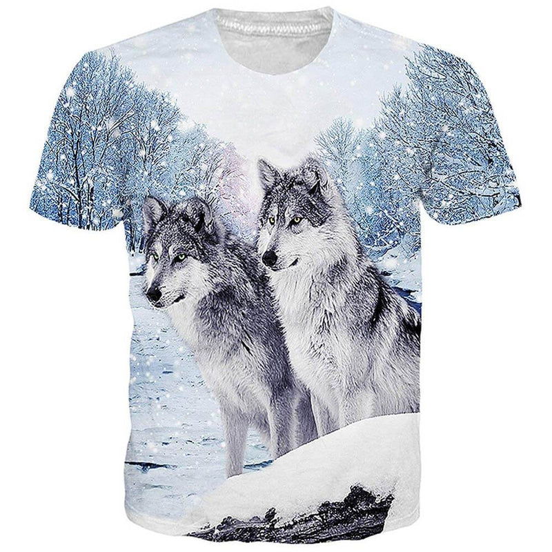 Forest Snow Wolf Tee