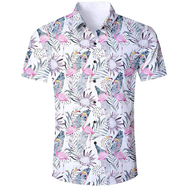 Pink Flamingo Ugly Aloha Shirts