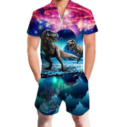 Galaxy Dinosaur One Piece Male Romper