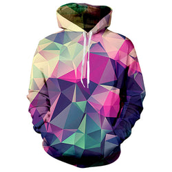 Graphic Geometric Diamond Hoodie