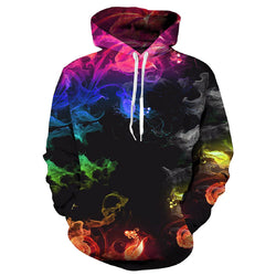 Colorful Smoke Graphic Hoodie