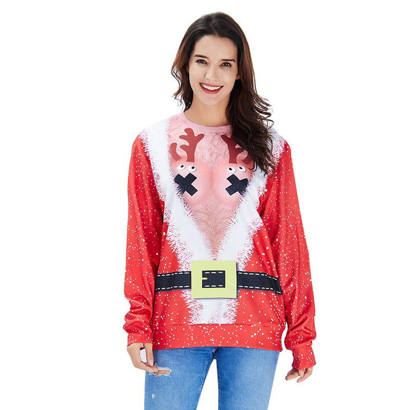 Chest Hair Deer Ugly Christmas Sweater