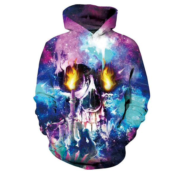 Fuck Fire Skull Graphic Hoodie