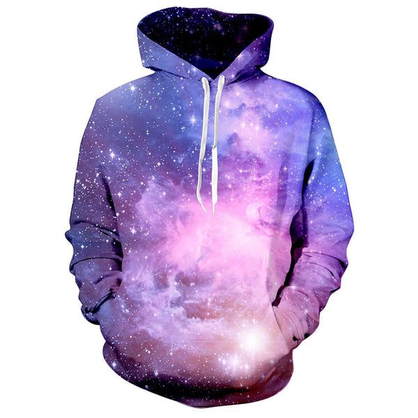 Space Galaxy Hoodie Blue Galaxy Sweatshirt