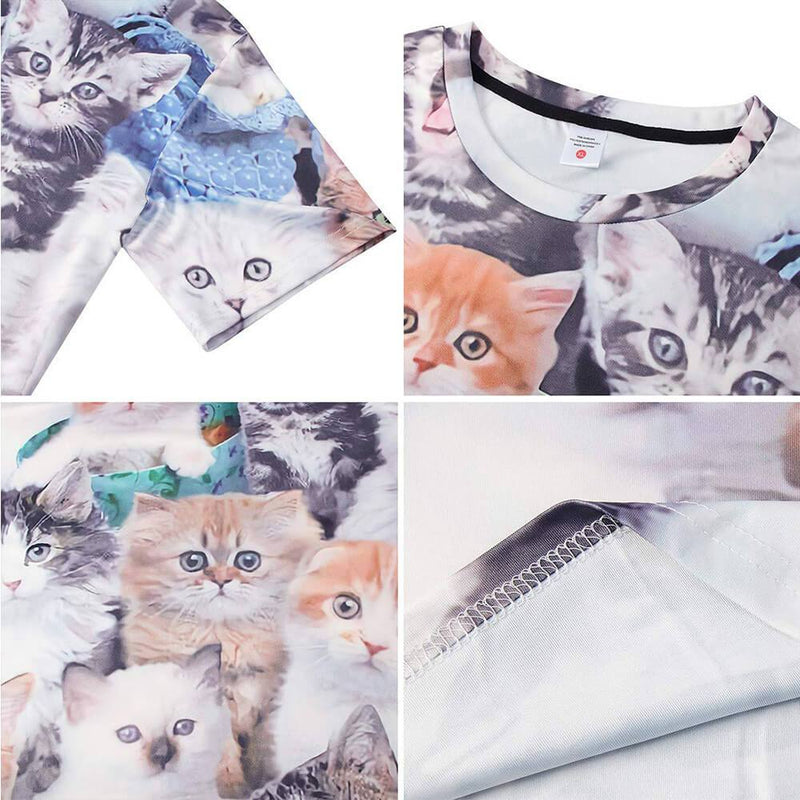 Printed Cats T Shirt