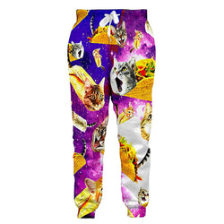 Graphic Taco Cat Funny Joggers