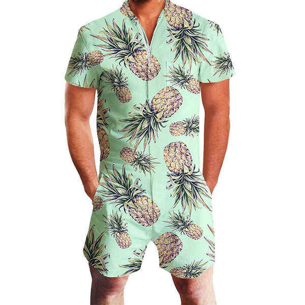 Green Pineapple Male Romper