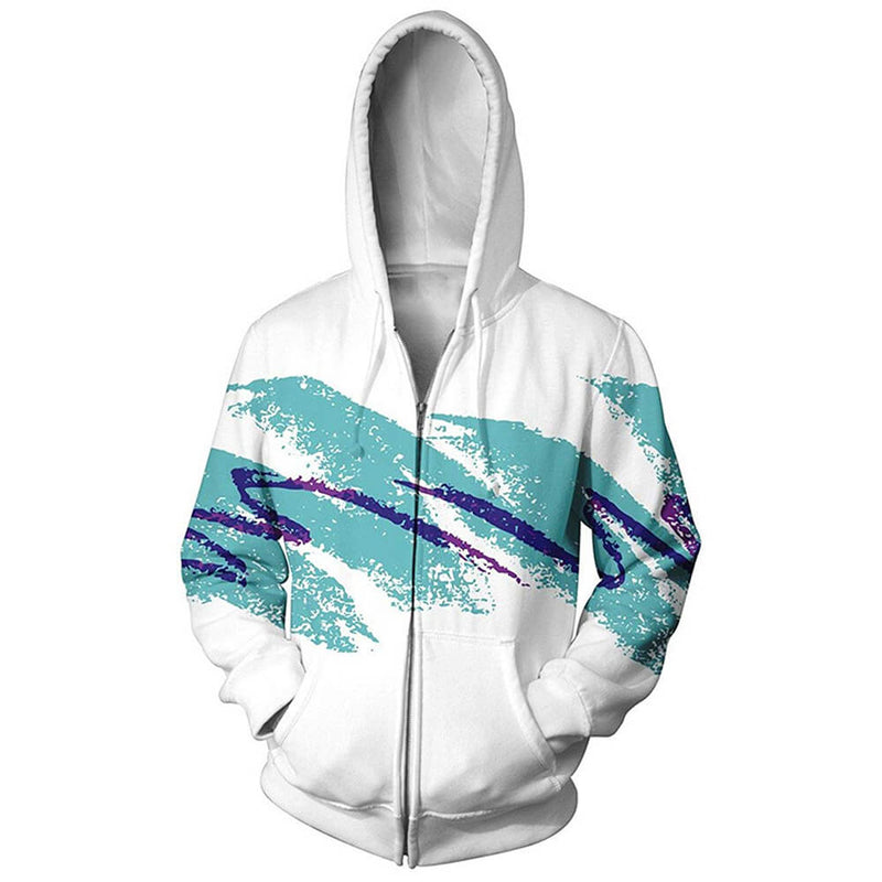 Graphic 90s Paper Cup Zip Up Hoodie