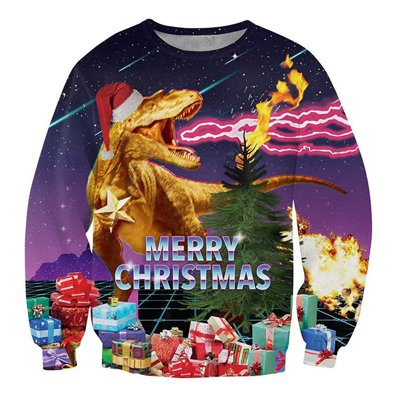 Funny Dinosaur Ugly Christmas Sweater