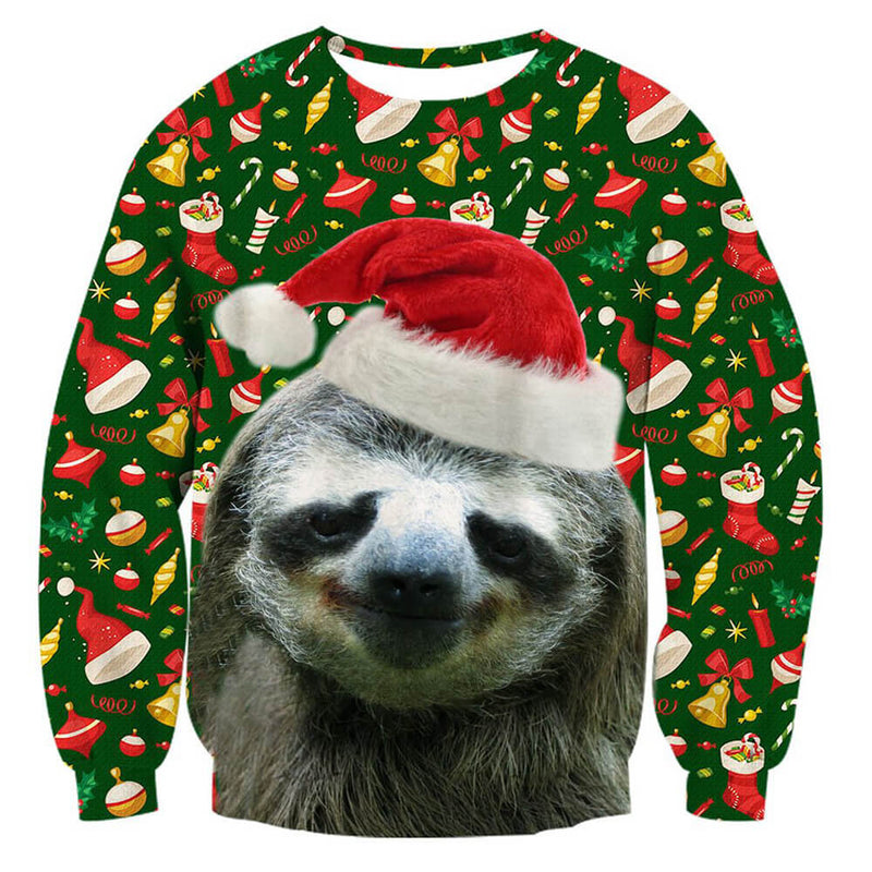 Sloth Xmas Ugly Christmas Sweater