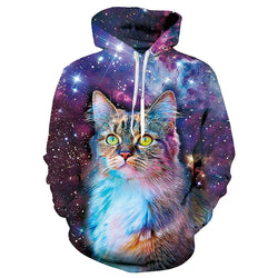 Galaxy Cat Graphic Hoodie